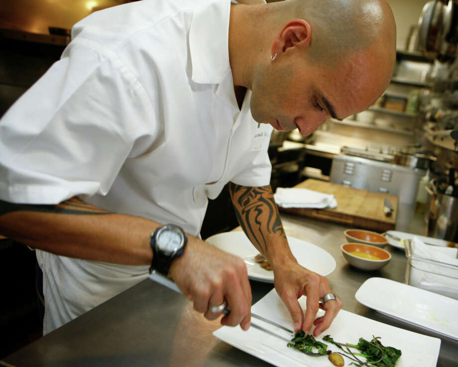 Chef Mourad Lahlou is perfecting the last touches on his as-yet-unnamed restaurant based on a Moroccan home layout. Photo: Russell Yip / Russell Yip / The Chronicle / SFC