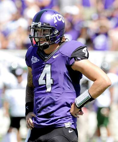 TCU star QB Casey Pachall has been indefinitely suspended by the team after being arrested. Photo: Matt Strasen, Associated Press / AP2011