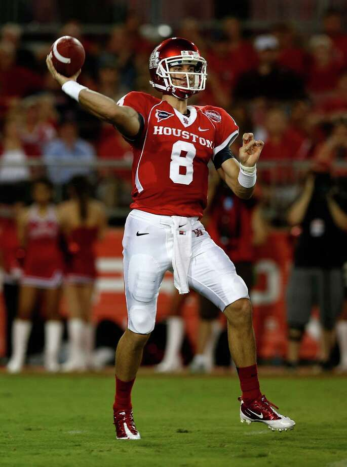 Quarterback David Piland thinks the Cougars are close to reversing their fortunes after opening their season with two losses at Robertson Stadium. Photo: Scott Halleran / 2012 Getty Images