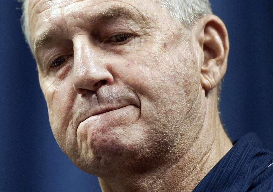 Jim Calhoun, 70, retires after winning 873 games and three national championships. Photo: Jessica Hill, Associated Press