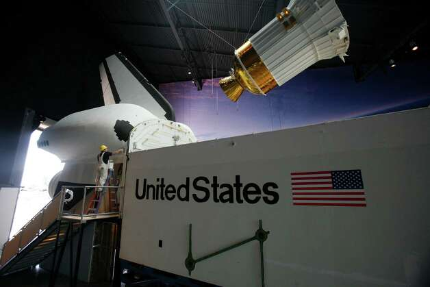 The Space Shuttle Full Fuselage Trainer is shown as work continues to assemble the space artifact on Thursday, September 13 ,2012 at Seattle's Museum of Flight. Workers are busy preparing the trainer for its public debut, scheduled for Nov. 10, as the centerpiece of the museum's new Charles Simonyi Space Gallery. Photo: JOSHUA TRUJILLO / SEATTLEPI.COM