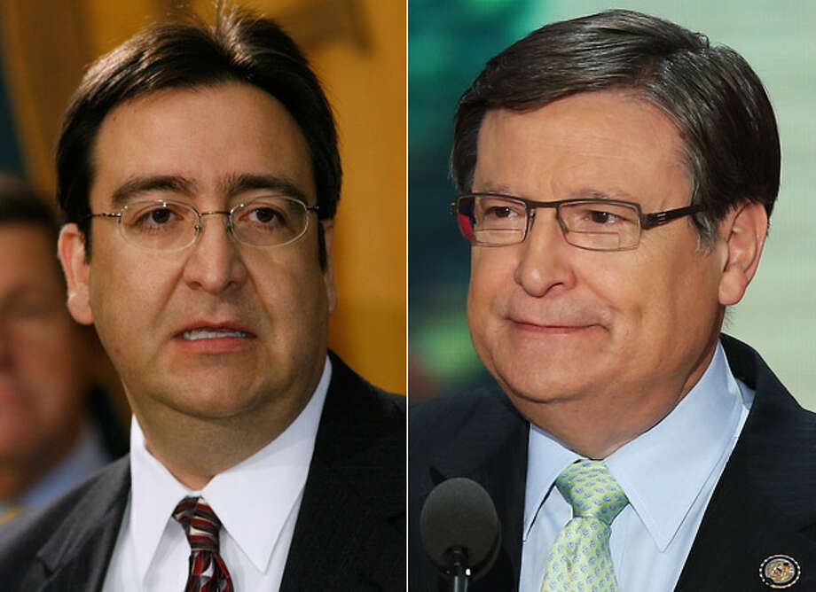 "The GOP says Pete Gallego's (left) support of health care legislation means ""higher taxes, fewer jobs."" Democrats paint Francisco ""Quico"" Canseco (right) as a ""millionaire who is out for himself, not us."" Photo: LEFT: Harry Cabluck / Associated Press, RIGHT: Mark Wilson / Getty Images"