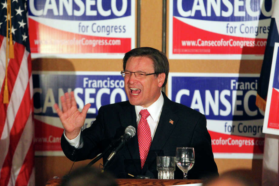 Francisco Canseco celebrates his victory  in the District 23 Congressional District race over Ciro  Rodriguez at the Crowne Plaza San Antonio Airport  on  Nov. 2,  2010. Photo: TOM REEL, SAN ANTONIO EXPRESS-NEWS / treel@express-news.net
