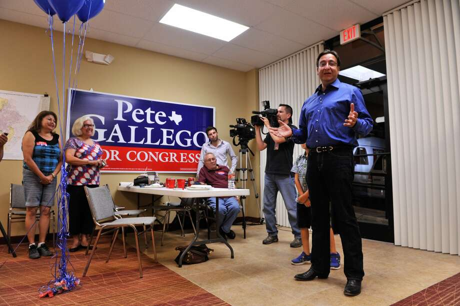 Democratic Congressional candidate Pete Gallego greets well-wishers at his campaign headquarters on July 31. (Robin Jerstad / Robin Jerstad)