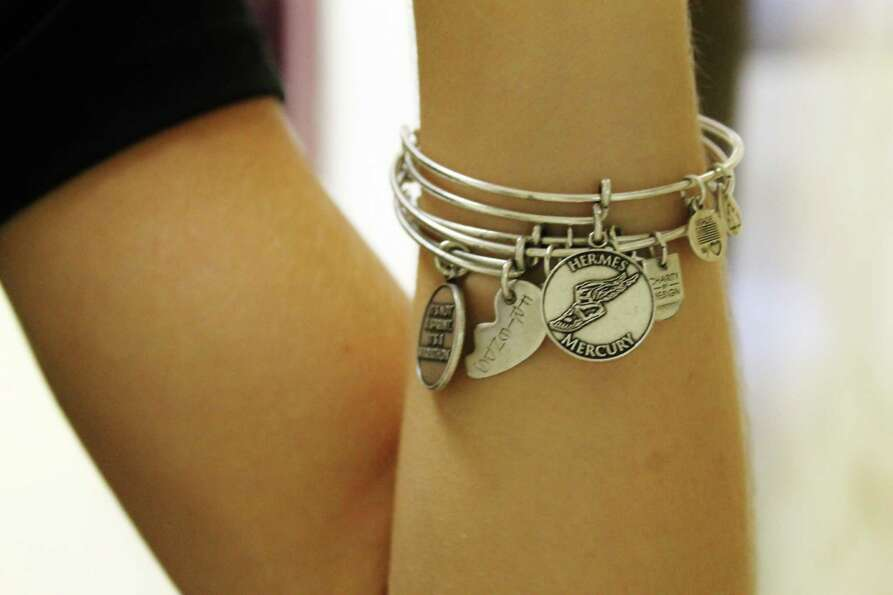 Alex and Ani charm bracelets are seen everywhere around school this year; keep a look out. Photo by