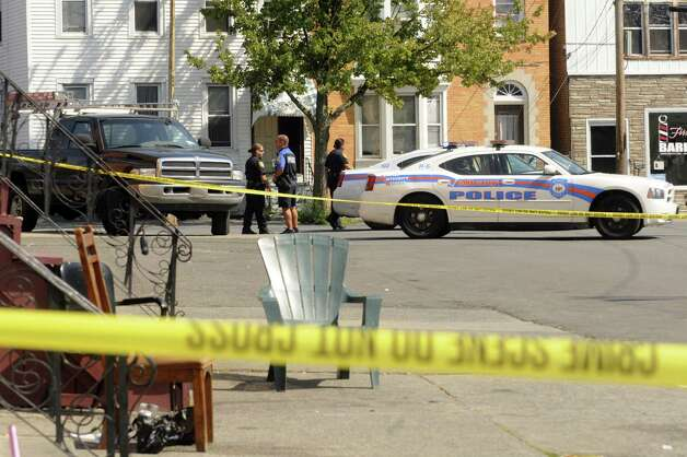 Homicide scene on Ontario Street in Albany, NY Friday Sept. 14, 2012. (Michael P. Farrell/Times Union) Photo: Michael P. Farrell