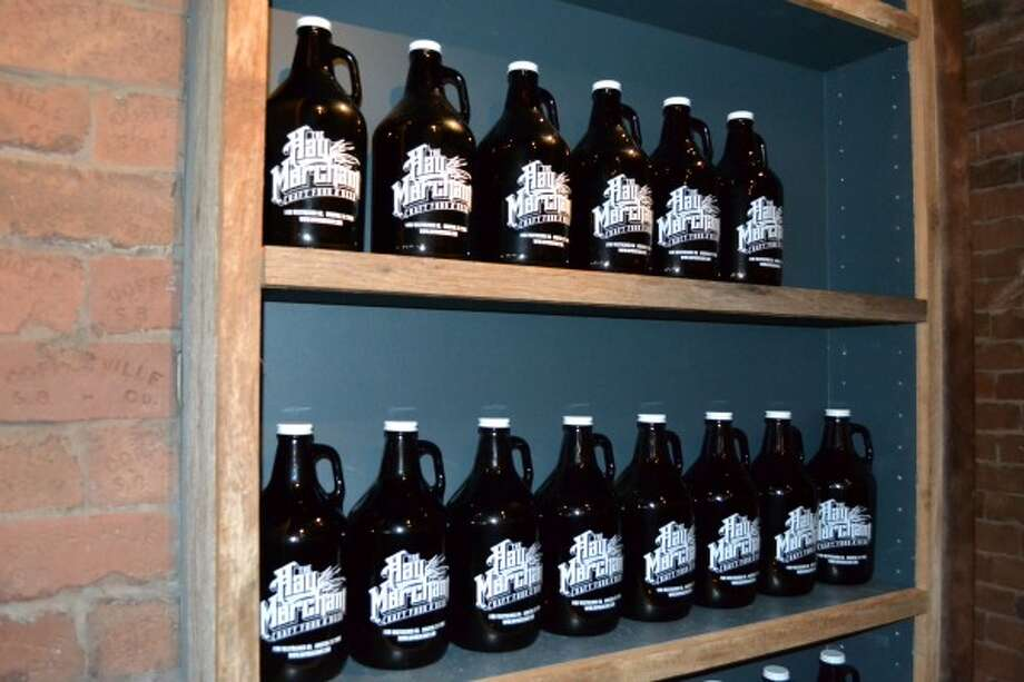 You can buy 64-ounce growlers for take-home beers. They are available any time the bar is open. (Ronnie Crocker / Beer, TX)