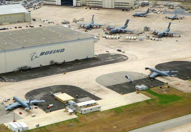 The Boeing facility at the former Kelly Air Force Base is seen in this July 1, 2011 aerial picture. (William Luther/wluther@express-news.net)
