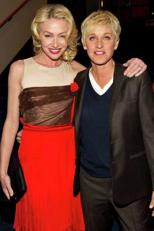 Actress Portia de Rossi and comedian/talk show host Ellen DeGeneres. The couple are both vegans. Oh, and Ellen has a blog: http://vegan.ellen.warnerbros.com. Photo: Christopher Polk, Getty Images For PCA / 2012 Getty Images
