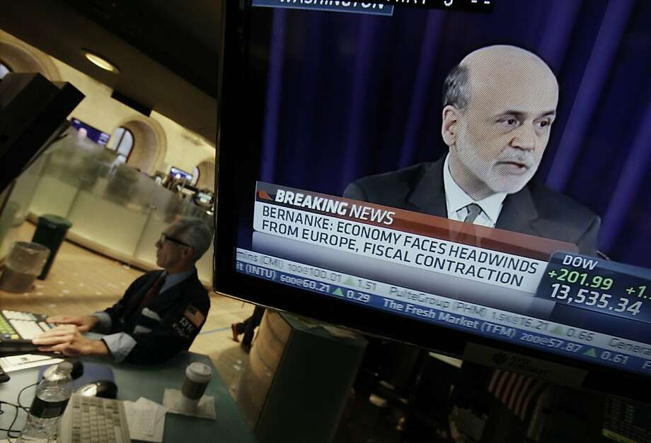 Ben Bernanke's pledge of Fed bond- buying is helping to fuel the rally. Photo: Richard Drew, Associated Press