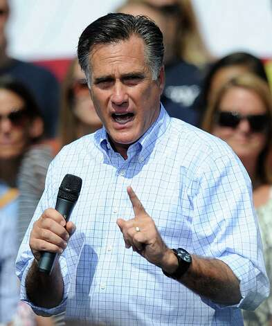 Republican presidential candidate Mitt Romney campaigns at Van Dyck Park, Thursday, September 13, 2012 in Fairfax, Virginia. Romney criticized President Barack Obama's handling of foreign policy on Thursday after four Americans were killed in Libya, saying the United States seems at the mercy of world events. (Olivier Douliery/Abaca Press/MCT) Photo: Olivier Douliery, McClatchy-Tribune News Service / Abaca Press