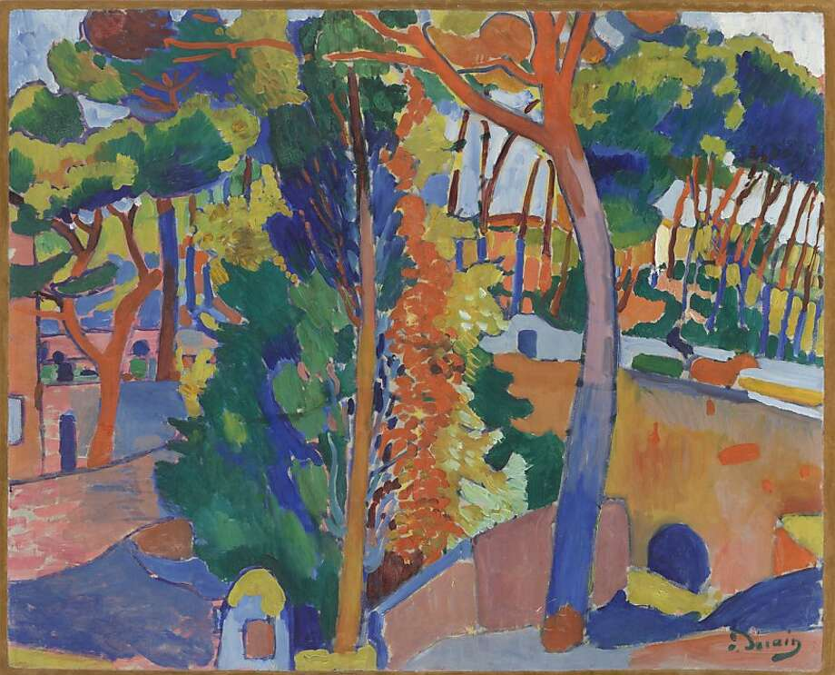 """Bridge Over the Riou"" (1906), oil on canvas by Andre Derain from the William S. Paley collection at the de Young. Photo: Unknown"