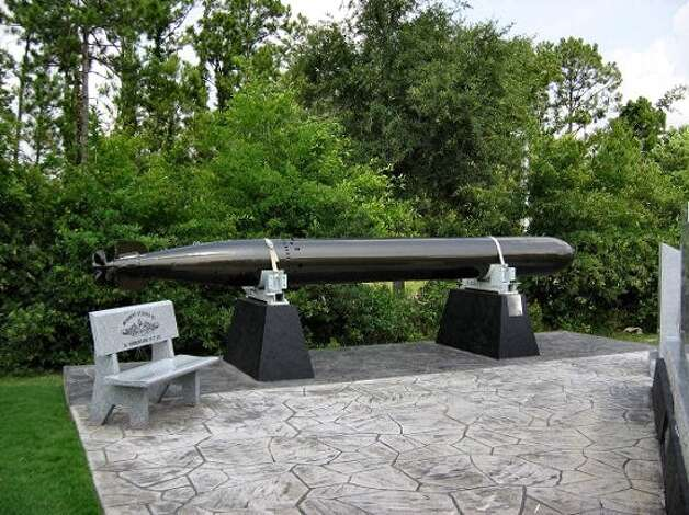 A torpedo similar to this one will soon be on display at the Veterans Memorial Park in Port Arthur. Photo: Provided