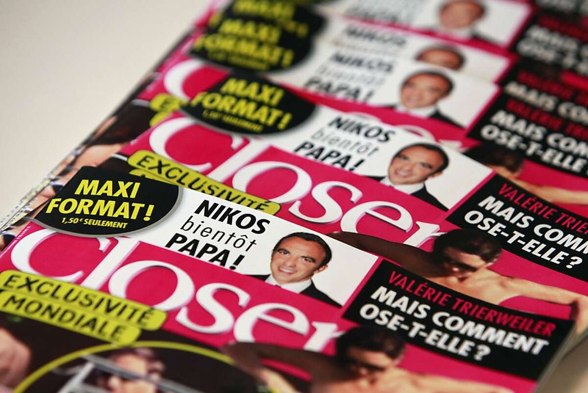 A stack of Closer magazines are displayed at the magazine's headquarter, in Montrouge, near to Paris, Friday, Sept. 14, 2012. The magazine on Friday published what appeared to be photos of Britain's Prince William and his wife Kate sunbathing topless at a private estate in southern France, prompting a strong condemnation from Britain's royal family. (AP Photo/Thibault Camus)