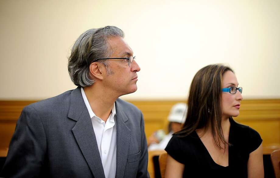 Suspended Sheriff Ross Mirkarimi and his wife, Eliana Lopez, attend last week's meeting of the Ethics Commission, which will decide whether he can return to his elected position. Photo: Noah Berger, Special To The Chronicle