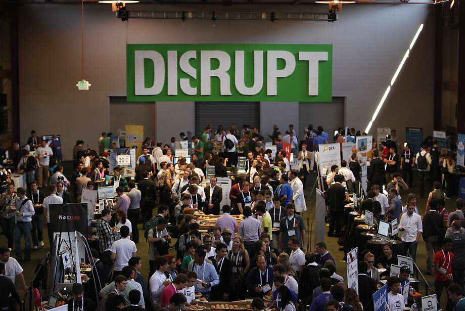 Conventioneers take in TechCrunch Disrupt SF 2012 at The Concourse in San Francisco Design Center. Photo: Lea Suzuki, The Chronicle