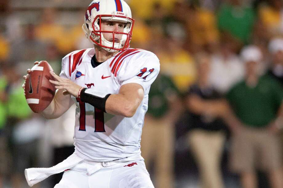 Garrett Gilbert, who transferred from Texas last year, is still trying to find his way after two games as SMU's signal-caller. Photo: Cooper Neill, Getty Images / 2012 Getty Images