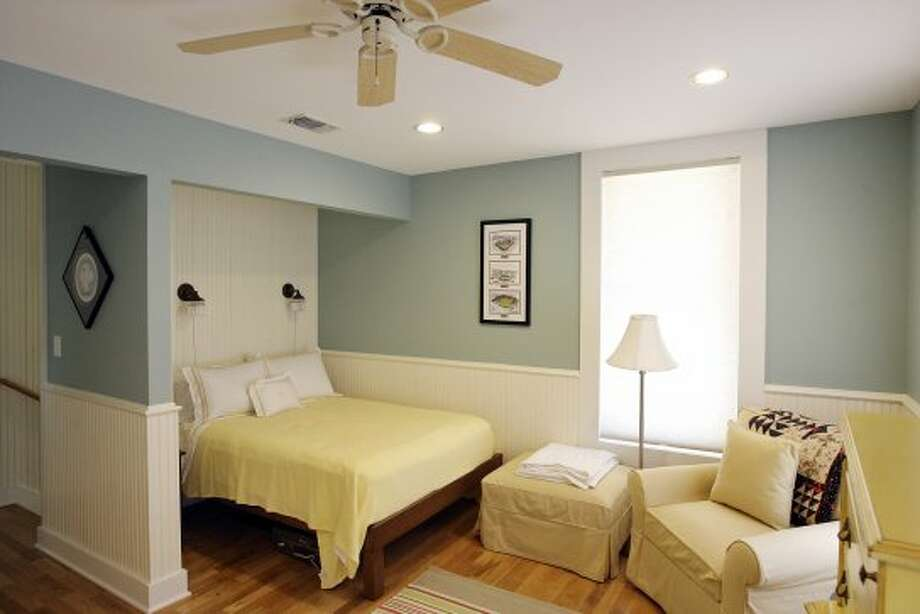 A view of the guest bedroom at the home of Amanda and Jason Seats Monday Sept. 10, 2012. (San Antonio Express-News)