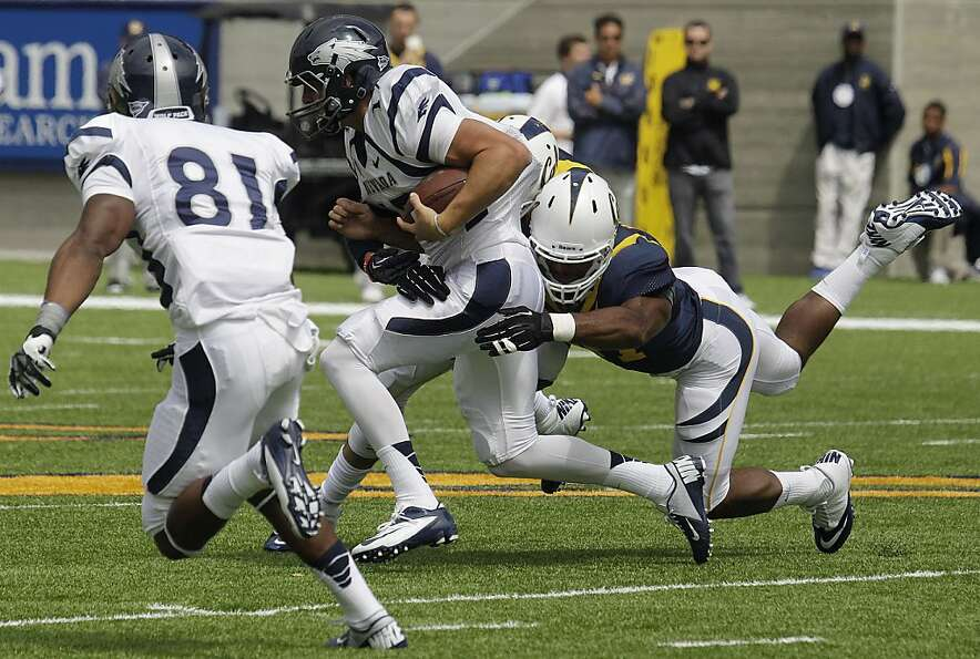 Nevada quarterback Cody Fajardo ran wild against Cal in the season opener, and the Bears will face a