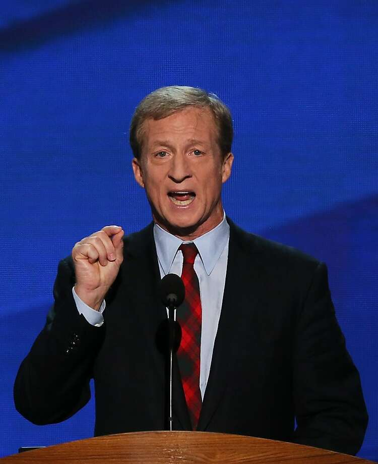Tom Steyer's  behind a tax hike for clean energy. Photo: Alex Wong, Getty Images