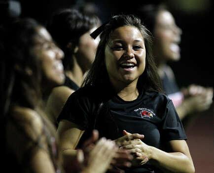 Incarnate Word cheerleaders support their team against Abilene Christian during game action at Benson Stadium on Saturday, Oct. 16, 2010. Abilene Christian won 54-17. MICHAEL MILLER / mmiller@express-news.net Photo: MICHAEL MILLER, Express-News / mmiller@express-news.net