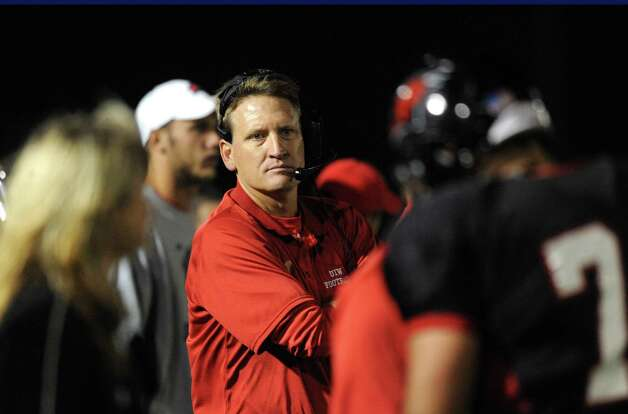 Incarnate Word interim head coach Todd Ivicic guides his team during college football action against Angelo State at Benson Stadium on Saturday, Nov. 5, 2011. Photo: BILLY CALZADA, Express-News / gcalzada@express-news.net