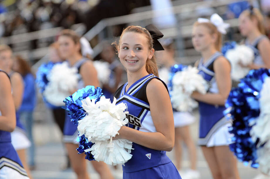 Bunnell High School cheerleaders on the sidelines as Bunnell faces off against Bethel during the first football game of the season at Bunnell High School in Stratford on Friday, Sept. 14, 2012. Photo: Amy Mortensen / Connecticut Post Freelance