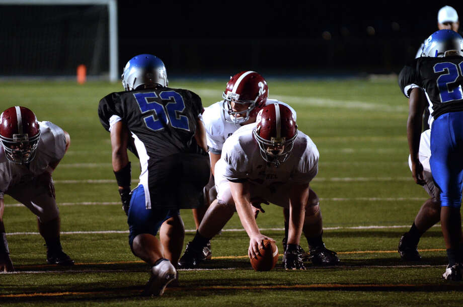 Bunnell High School faces off against Bethel during the first football game of the season at Bunnell High School in Stratford on Friday, Sept. 14, 2012. Photo: Amy Mortensen / Connecticut Post Freelance