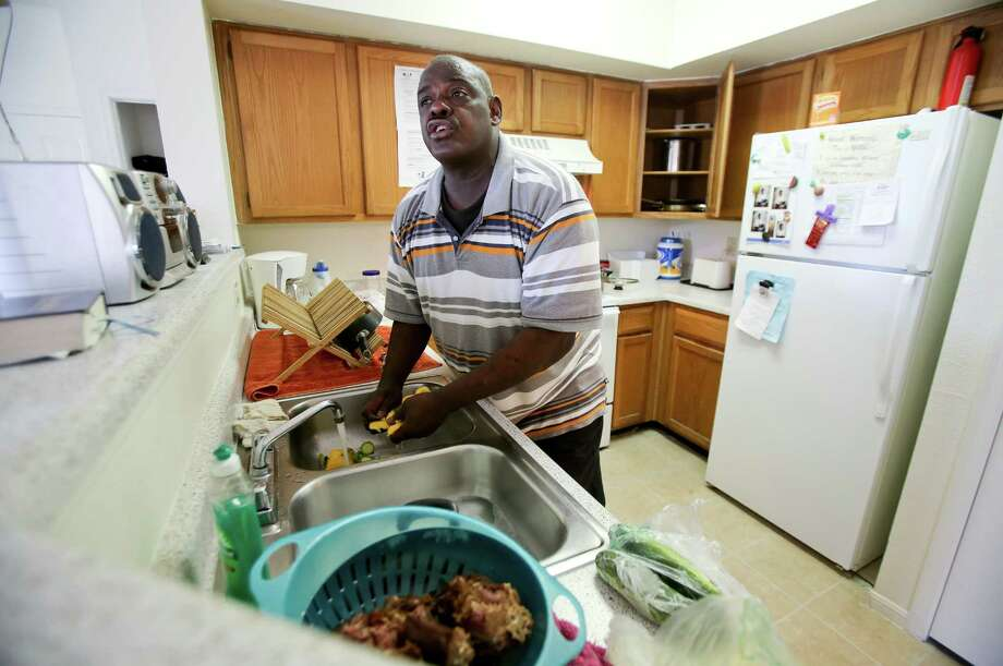 Army veteran Burnell Demiss, a former drug abuser, moved here after losing everything during Huricane Katrina in New Orleans. Demiss moved to Houston with just a few pictures and papers and the clothes on his back. Photo: Thomas B. Shea / © 2012 Thomas B. Shea