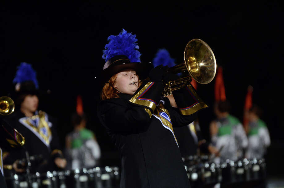 The Bunnell marching band performs during the first football game of the season against Bethel at Bunnell High School in Stratford on Friday, Sept. 14, 2012. Photo: Amy Mortensen / Connecticut Post Freelance