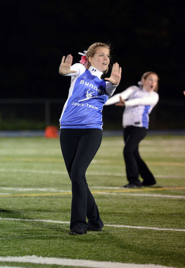 The Bunnell dance team performs on the field during the first football game of the season against Bethel at Bunnell High School in Stratford on Friday, Sept. 14, 2012. Photo: Amy Mortensen / Connecticut Post Freelance