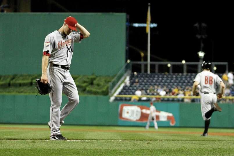 Sept. 4: Pirates 6, Astros2Astros pitcher Jordan Lyles walks off the fi