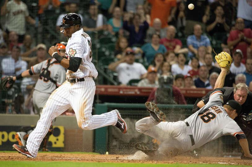 Aug. 28: Giants 3, Astros 2 Jimmy Paredes give the Astros the go-ahead run a