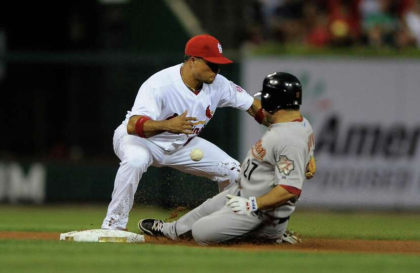 Aug. 22: Cardinals 4, Astros 2Rafael Furcal of the Cardinals can't hand