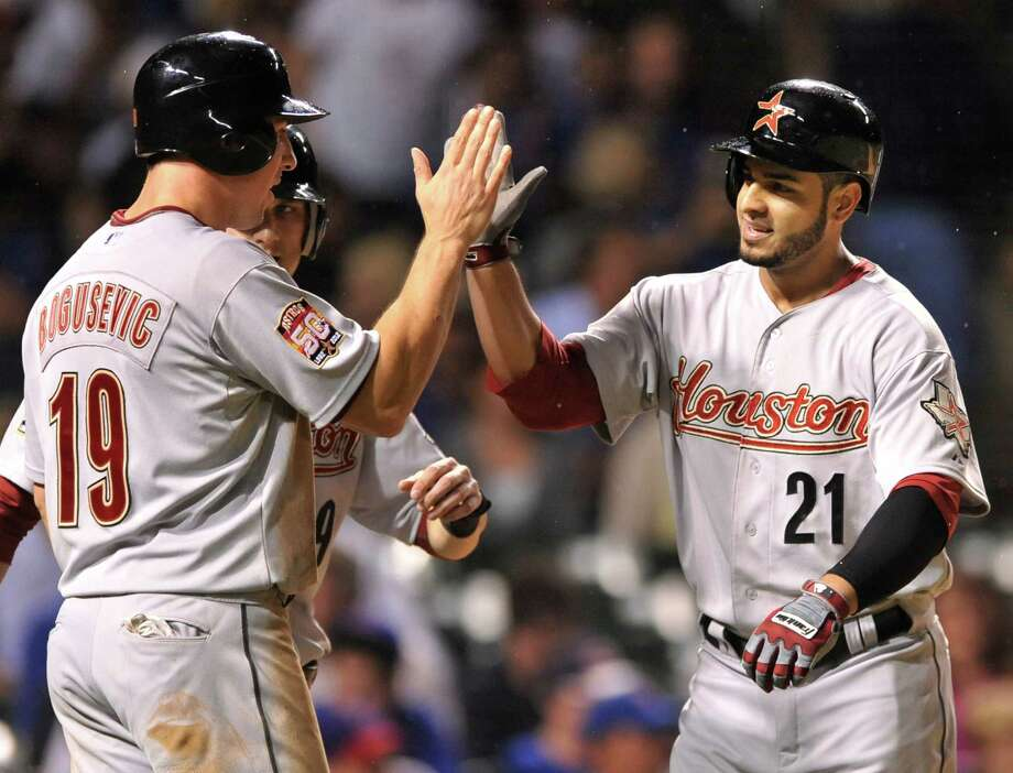Aug. 14: Astros 10, Cubs 1Fernando Martinez felt right at home in Chicago, connecting on a three-run home run to help propel that Astros to a victory.Record: 39-79. Photo: PAUL BEATY, Associated Press / FR36811 AP
