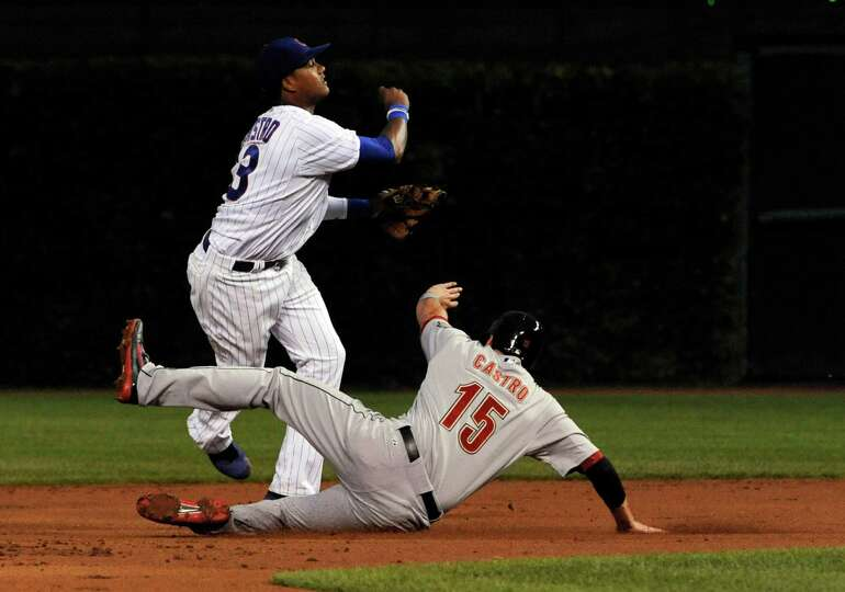 Aug. 13: Cubs 7, Astros 1 Jason Castro tries to take out Starling Castro and