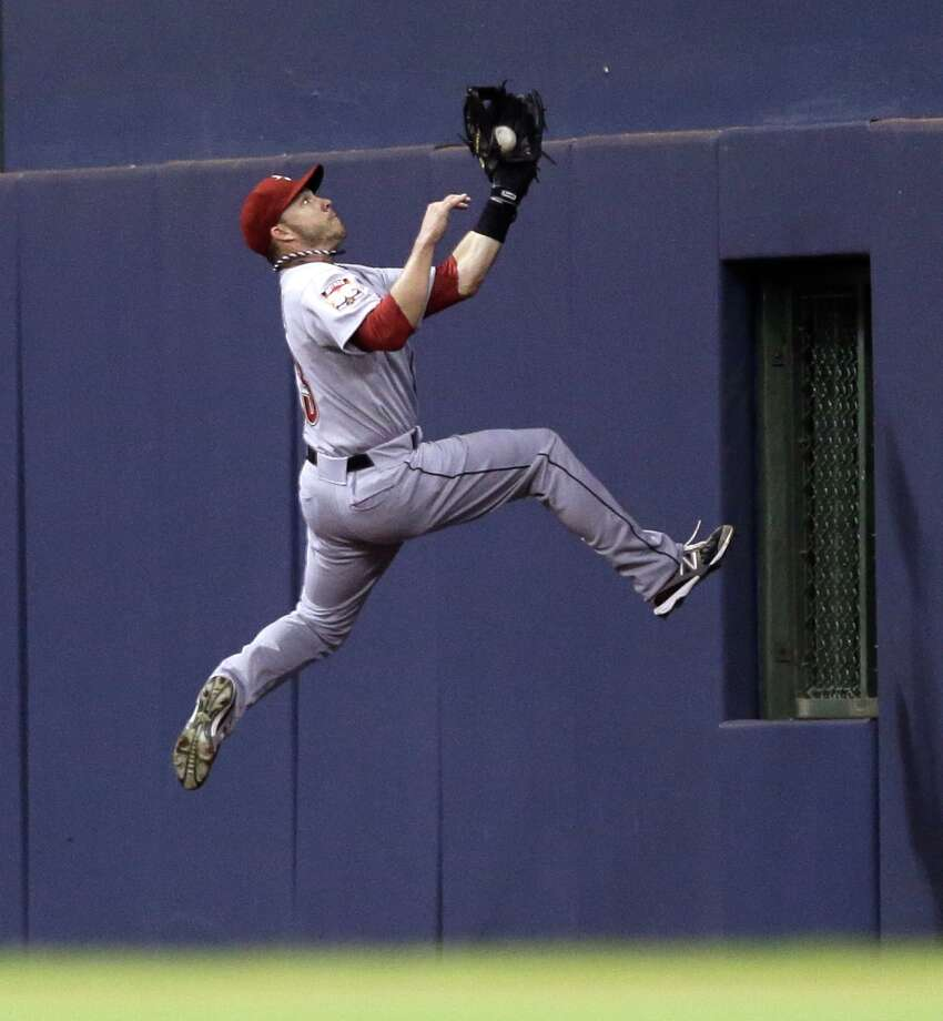 July 30: Brewers 8, Astros 7Steve Pearce makes a leaping catch on a ball hit by Corey Hart. Record: 35-69. Photo: JEFFREY PHELPS