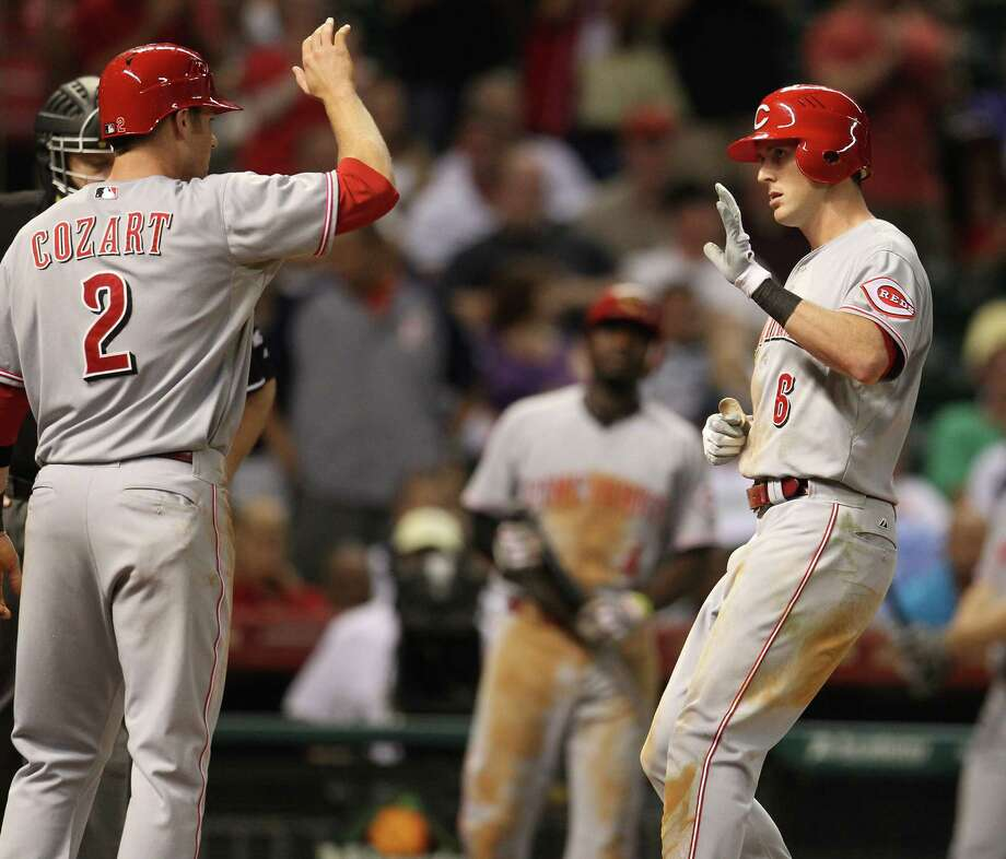 July 24: Reds 4, Astros 2 A ninth-inning rally by the Reds hands the Astros their 8th straight loss on the same night Wandy Rodriguez was shipped to Pittsburgh.Record: 34-64. (Karen Warren / Chronicle) Photo: Karen Warren, Houston Chronicle / © 2012  Houston Chronicle