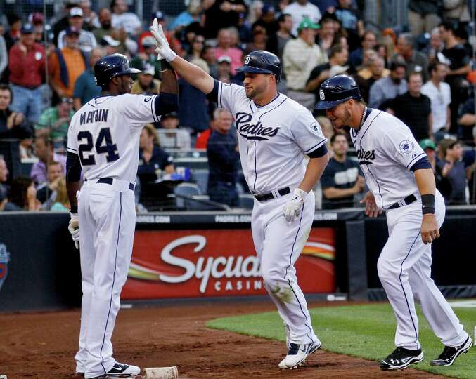July 17: Padres 8, Astros 2Yonder Alonso of the Padres celebrates after