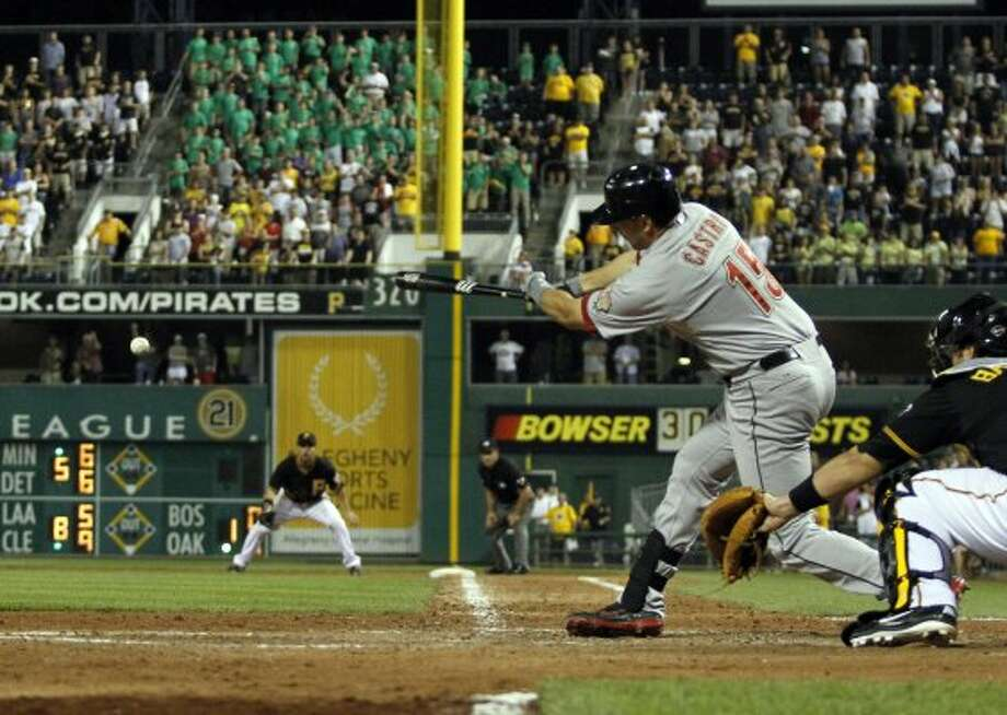 July 3: Pirates 8, Astros 7Astros catcher Jason Castro tied the game with a two-out, RBI double in the top of the ninth inning, but the Pirates escaped with a victory on former Astros farmhand Drew Sutton's walkoff solo shot in the bottom frame.Record: 32-49. (Justin K. Aller / Getty Images)