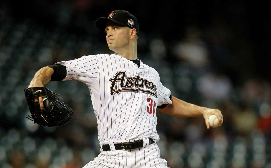 June 18: Astros 9, Royals 7J.A. Happ held the Royals to two runs on four hits in six innings to improve to 5-7 on the season and help the Astros break a three-game losing streak.Record: 28-39. Photo: Karen Warren, Houston Chronicle / © 2012  Houston Chronicle