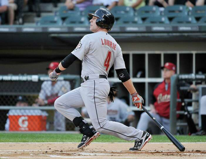 June 8: Astros 8, White Sox 3 Jed Lowrie follows through on a sacrifice fly,