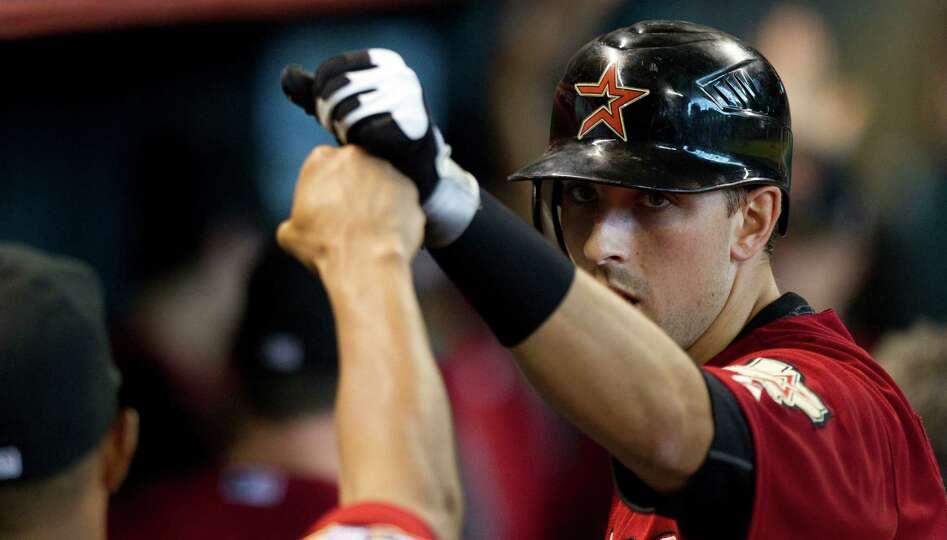 June 3: Astros 5, Reds 3 Astros catcher Jason Castro does a fist bump as he