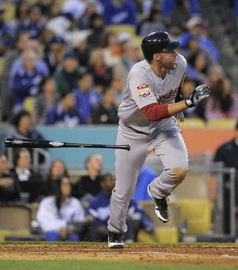 May 25: Astros 3, Dodgers 1J.D. Martinez's blast helped the Astros take Game 1. Record: 22-23. (Mark Terrill / AP)