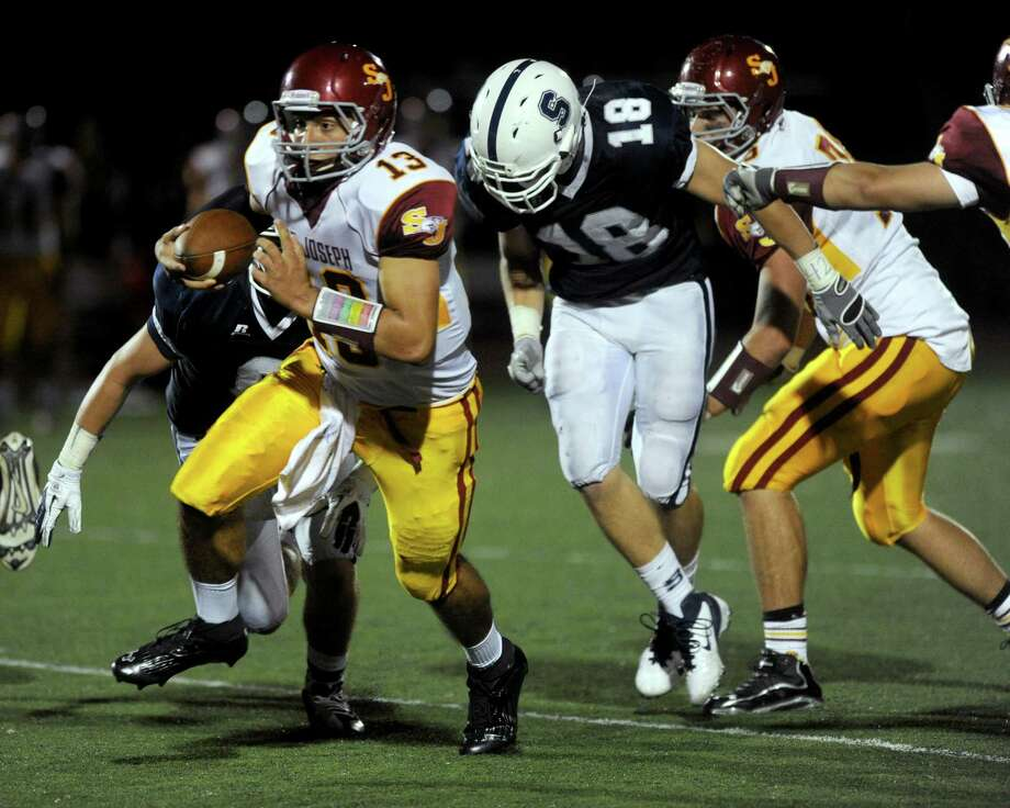 Friday's football game between St. Joseph High School and Staples High School in Westport on September 14, 2012. Photo: Lindsay Niegelberg / Stamford Advocate