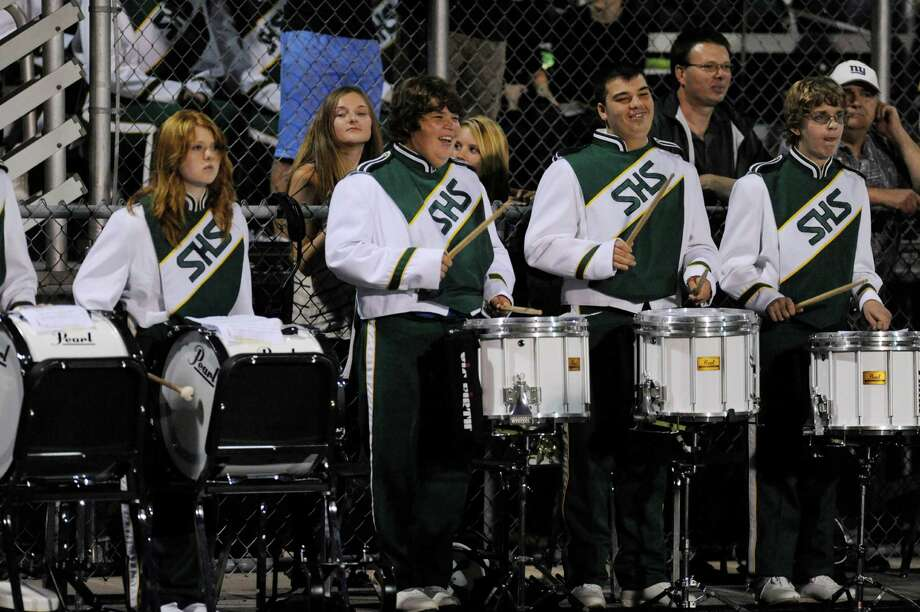 Schalmont's marching band performs during their football game against Schuylerville in Rotterdam, N.Y., Friday, Sept. 14, 2012. (Hans Pennink / Special to the Times Union) High School Sports. Photo: Hans Pennink / Hans Pennink