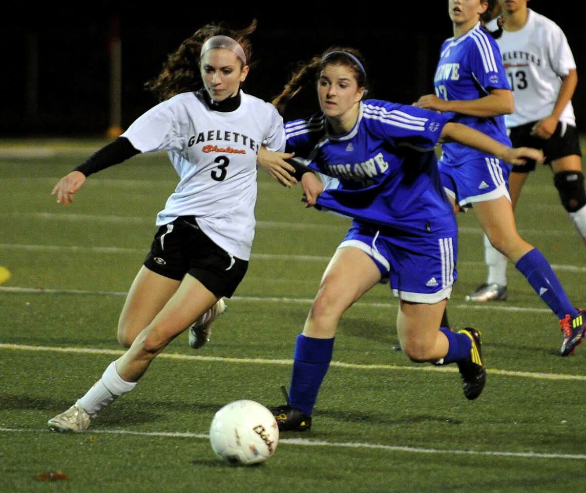 Highlights from CIAC Class LL girls' soccer tournament action between Shelton and Fairfield Ludlowe in Shelton, Conn. on Thursday November 10, 2011.