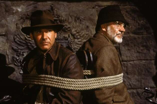 "Harrison Ford as Indiana Jones and Sean Connery as his father Henry Jones in ""Indiana Jones and the Last Crusade."" (Lucasfilm/Paramount)"