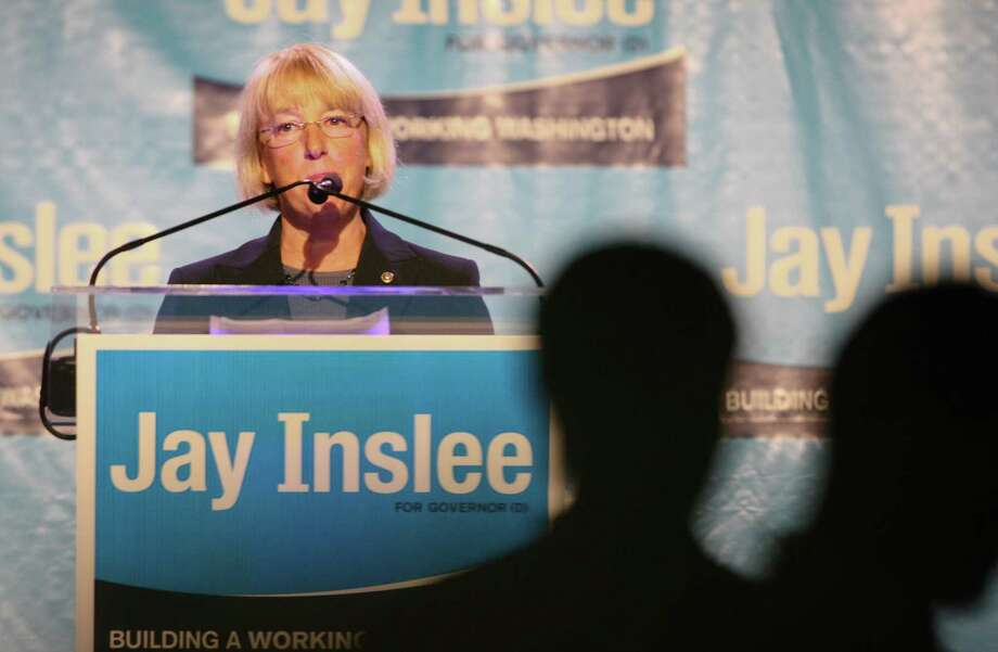 Senator Patty Murray speaks to the crowd during a campaign fundraiser for Democratic gubernatorial candidate Jay Inslee at the Washington State Convention Center on Saturday, September 15, 2012. The event, which featured former President Bill Clinton, was described by speakers as one of the largest political gatherings Seattle has seen, brought in roughly $750,000 and about 3,000 people. Photo: LINDSEY WASSON / SEATTLEPI.COM
