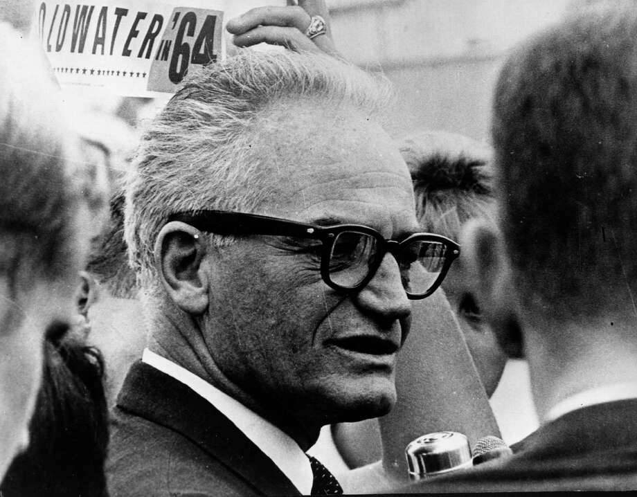 – Barry Goldwater: The former Arizona senator and father of modern conservatism, defying his state's right wingers, came out in support of a medical marijuana initiative that was passed by Arizona voters in 1996. Goldwater liked to tell a story on himself. He arrived home early from Washington, D.C., and caught a nephew smoking dope in his Phoenix living room.  The nephew's rejoinder to reprimand was that he'd seen Uncle Barry drinking and under the influence in that very room. Photo: Keystone, Getty Images / Hulton Archive